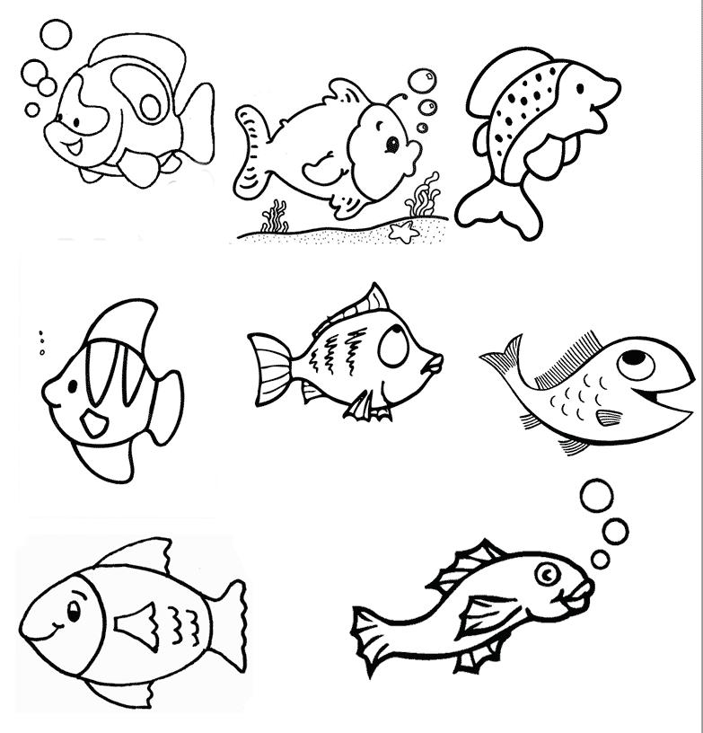 Раскрашиваем рыбок