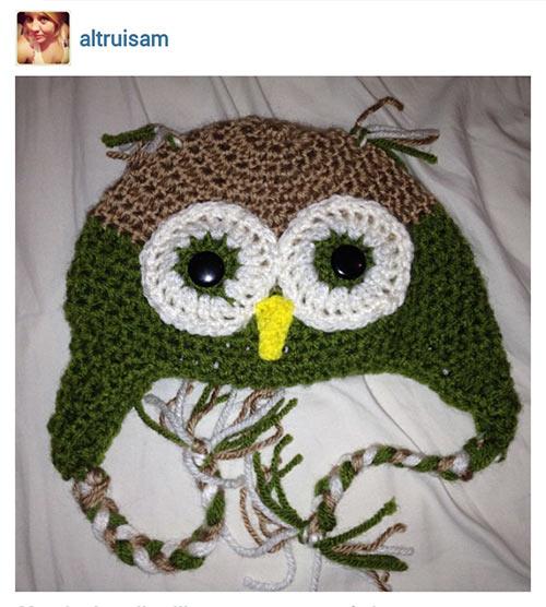 2 шапка сова вязанье крючком
