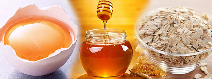 маска-лица-овсянка-мёд-желток